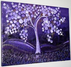 Art: PURPLE WHISHES TREE-sold by Artist LUIZA VIZOLI