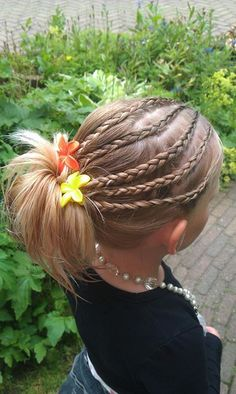 mini dutch braids