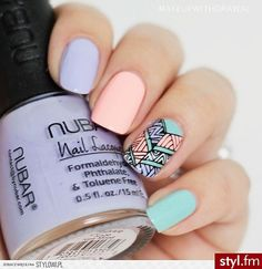Love This Beautiful & Unique Cute Nail Art Designs. Check Our List For More Nail Art Ideas ♥ Perfect Nails, Gorgeous Nails, Love Nails, Fun Nails, Pretty Nails, Fall Nail Art Designs, Pretty Nail Designs, Tribal Nails, Manicure E Pedicure