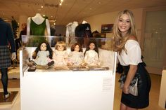 """Pretty Little Liars star Sasha Pieterse with dolls in the likeness of characters Aria, Hanna, Spencer and Emily that """"A"""" ordered for the girls, at the Thursday, April 12, launch party celebrating Warner Bros. Television Group's Television: Out of the Box exhibit at the Paley Center for Media in Beverly Hills.http://bit.ly/TVOTB_Pinterest"""