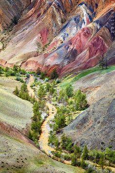 Kyzyl-Chin, Altai, Russia by Serg Zastavkin (see http://www.shutterstock.com/pic-365474468/stock-photo-view-on-altai-mountain-stream-kyzylchin-siberia-russia.html)