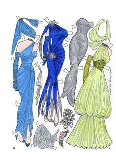 Gowns for a Holiday Paper Doll by Charles Ventura - Maria Varga - Álbumes web de Picasa