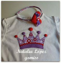 Diadema y aplicacion en camiseta de Natalia Lopez Gomiss