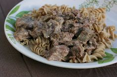A Year of Slow Cooking: Slow Cooker Beef Stroganoff Recipe - I'm going to try this with PLAIN cream cheese, not the flavored stuff, plus garlic, onion, and mushrooms. Seems like the cheese would separate, but author says no....