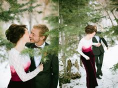 Magical Winter Wedding Shoot: Roses, Snow