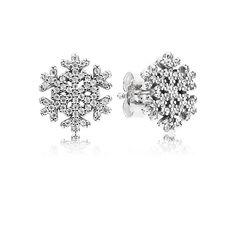 Snowflake stud earrings - Pandora UK | PANDORA eSTORE