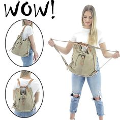 diy bag The Savannah bag will perfectly fit all your needs and circumstances. It easily transforms from a shoulder bag into a backpack by simply pulling its double shoulder strap backwards to create two straps. Purses And Handbags, Leather Handbags, Leather Bag, Backpack Purse, Tote Bag, Jean Backpack, Backpack Outfit, Backpack Pattern, Bag Women