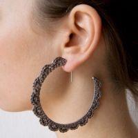 #earrings #crochet #hoop