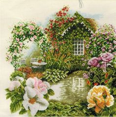 Rose Garden - Cross Stitch Kit  Love the glorious spring-like colors.  It looks pristine!