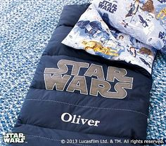 Star Wars™ Sleeping Bag from Pottery  Barn Kids. I love this for Dominic!!!
