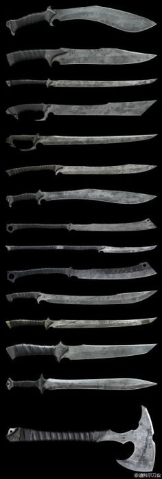These are some cool knives and swords. Great for the Zombie Apocalypse Survival Swords And Daggers, Knives And Swords, Katana, Zombie Tools, Zombie Weapons, La Forge, Armadura Medieval, Medieval Weapons, Cool Knives