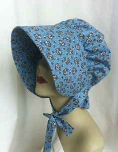 Adult Girls Hat  Pioneer Bonnet  Gardening Bonnet  by 4PennyGirl