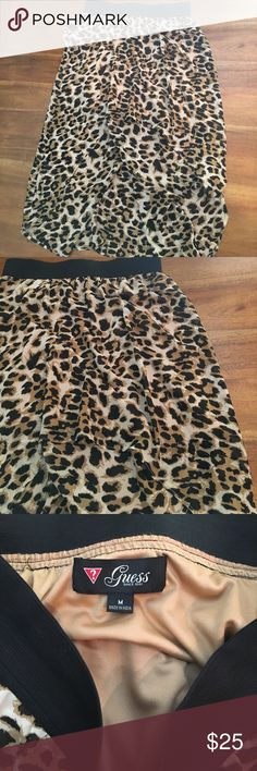 Guess high low leopard print skirt Guess leopard print how low skirt in excellent used condition size M. Guess Skirts High Low