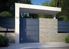11 designs of porches so that the entrance of your house looks great. Modern and elegant! porches modern looks house great entrance designs House Gate Design, Door Gate Design, Wall Design, Front Gates, Entrance Gates, Modern Fence Design, Modern Gates, Modern Entry, Modern Minimalist House