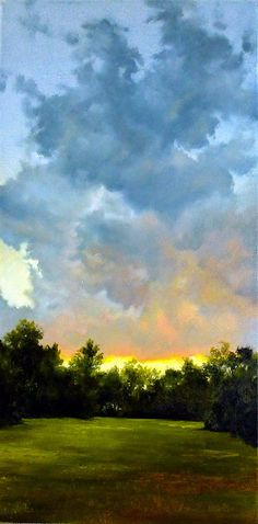 "Gloaming by Bucks County Gallery Oil ~ 24"" x 12""                                                                                                                                                      Plus"