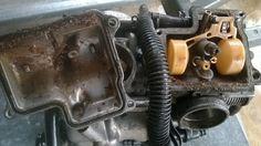 Avant nettoyage carburateur Honda 600 Shadow