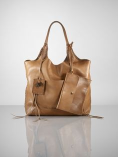 bd2fdc1e89c1 Laced Leather Hobo  Ralph Lauren Handbags