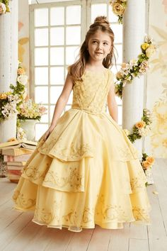 Belle's ball gown from Disney's live-action Beauty and the Beast movie. Your little girl will be a real princess in this beautiful dress!