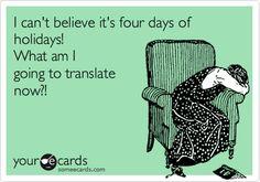 Translation Holiday