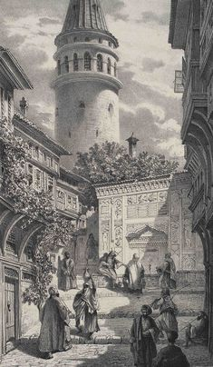 """Ottoman Imperial Archives on Twitter: """"Galata, Istanbul, 1850s… """""""