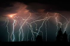 The Lighthouse of Maracaibo. Catatumbo lightning - the eternal lightning storms of Venezuela.