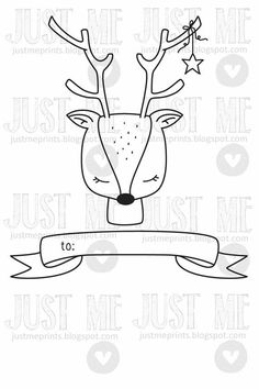 This sweet Christmas deer would be perfect for creating holiday cards or tags. With this listing, you will receive high quality, originally