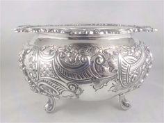 Opulent refined silverplate Rose bowl Thomas Webb Sons 1891 c Rose Bowl, Silver Plate, Sons, Vase, Ebay, Silverware Tray, My Son, Vases, Boys