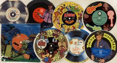Records on the back of cereal boxes.