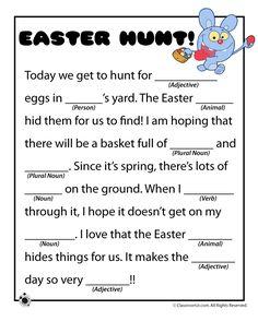 Easter Mad Libs Easter Mad Libs - Easter Hunt! – Classroom Jr.
