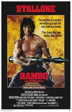 Theatrical poster for Rambo: First Blood Part II