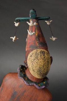 Renee Rouillier - Ceramic & Wire Figure Sculpture