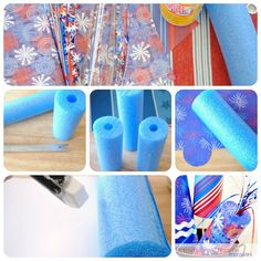 4th of July, pool noodle, craft, patriotic, firecrackers