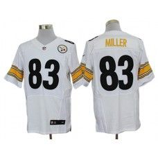 Nike Heath Miller Jersey Elite Team Color White Pittsburgh Steelers  83 ae0a9515f