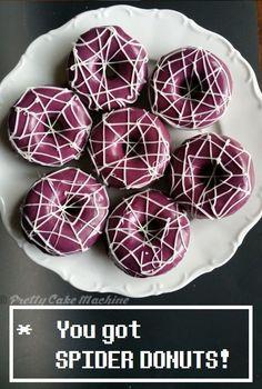 Recipe/Tutorial: Spider Donuts (Undertale Undertea, part 2) | Pretty Cake Machine