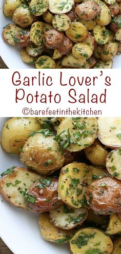 Garlic Lover's Potato Salad is a warm potato salad that can be served hot, cold, or at room temperature. Garlic Potato Salad Recipe, Baby Potato Salad, Best Ever Potato Salad, Vegan Potato Salads, Salad With Sweet Potato, Potato Salad Recipes, Baby Potato Recipes, Southern Style Potato Salad, Classic Potato Salad