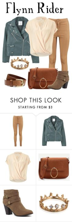 """""""Flynn Rider / Tangled"""" by waywardfandoms ❤ liked on Polyvore featuring Boohoo, MANGO, Miss Selfridge, H&M, casual, disney, disneybound, tangled and disneycharacter"""