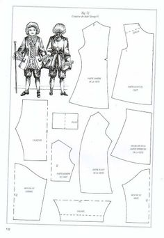 "many patterns for 18th and 19th century clothing for 1""1' scale dolls. In French. Doll's House Dolls Making & Dressing-Sue Attkinson - Kate Maksimenko - Picasa Web Albums"
