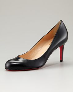 Simple Leather Pump by Christian Louboutin at Neiman Marcus.