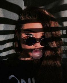 ☼ ☾pinterest | Itsmypics Insta Makeup, Glam Makeup, Eyeshadow, Eyeliner, Mascara, Lashes, Round Sunglasses, Swag, Change