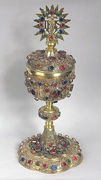 Eucharistic Pyx  1710-1720.  Poland, Glogow.  Johann Stoss.