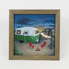 Excited to share the latest addition to my #etsy shop: Lightbox,Desert, vintage camping scene, led lights, framed art, Happy Camper line Lightbox, Happy Campers, Light And Shadow, Shadow Box, Night Light, Framed Art, Original Art, Rocks, Curly