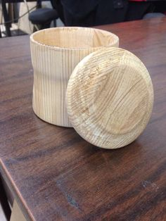 How To Make A Wooden Cup With A Lid