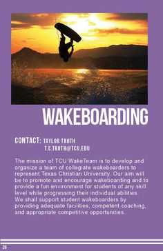 Wakeboarding Sports Clubs, Wakeboarding, Encouragement