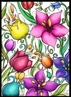 Tropical Flowers by S-h-a-y-m-a on deviantART
