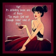 It's definitely been one of those 'too much shit not enough wine' kind of days. Only a wino would understand Humor Mexicano, Coffee Wine, Wine Wednesday, In Vino Veritas, Wine Time, Enough Is Enough, Just For Laughs, Wine Tasting, Cheers