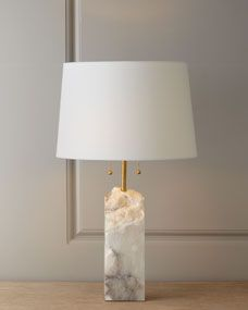 I'm sure I have already pinned this before but just in case...  LOVE! Regina-Andrew Design Raw Alabaster Lamp