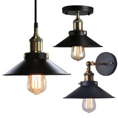 Industrial Retro Vintage Black Lampshade Pendant Light/Wall Lamp/Ceiling Lights