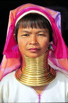 Ban Nai Soi, Thailand.Padaung Karen Longneck woman near Mae Hong Son