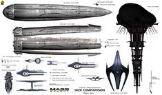 As promised, here comes the next size overview of ships and stations of the Mass Effect universe. Fortunately, there are more canon data for the stations than for the ships, so this is likely to be...