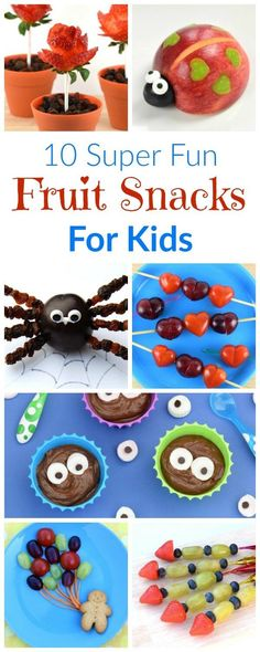 10 cute and easy fun fruit snacks for kids - get them eating healthy fruit with these brilliant fun food recipes and tutorials - Eats Amazing UK